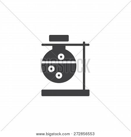 Lab Experiment Vector Icon. Filled Flat Sign For Mobile Concept And Web Design. Chemical Reaction Si