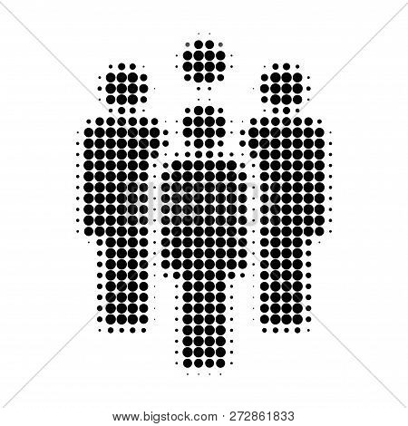 Staff Halftone Dotted Icon. Halftone Pattern Contains Circle Dots. Vector Illustration Of Staff Icon