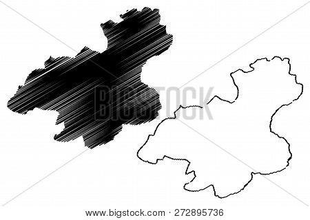 Karabuk (provinces Of The Republic Of Turkey) Map Vector Illustration, Scribble Sketch Karabük Ili M