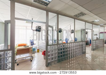 Modern Dialysis Center With Several Dialysis Units
