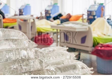 Medical Dialysis Bags Used In Dialysis Center