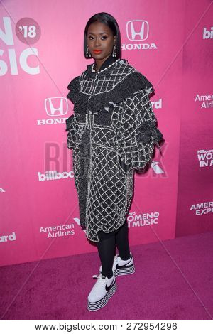NEW YORK - DEC 6: Tierra Whack attends Billboard's 13th Annual Women in Music event on December 6, 2018 at Pier 36 in New York City.