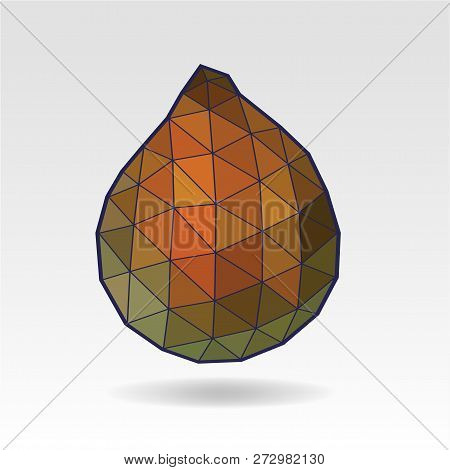 Salak, Salacca Or Zalacca Fruit. Low Poly Art. Triangular Style Illustration