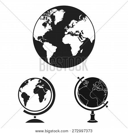 Vector Design Of Globe And World Sign. Set Of Globe And Earth Stock Symbol For Web.