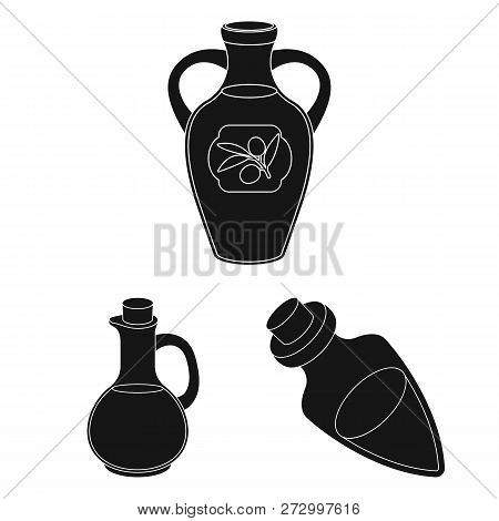 Vector Design Of Food  And Bung Symbol. Collection Of Food  And Oil  Stock Symbol For Web.
