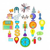 Temporary difficulty icons set. Cartoon set of 25 temporary difficulty vector icons for web isolated on white background poster