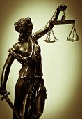 Antique Statue of justice poster