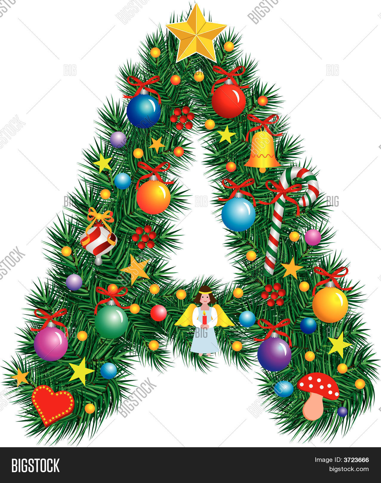 alphabet letter a christmas decoration