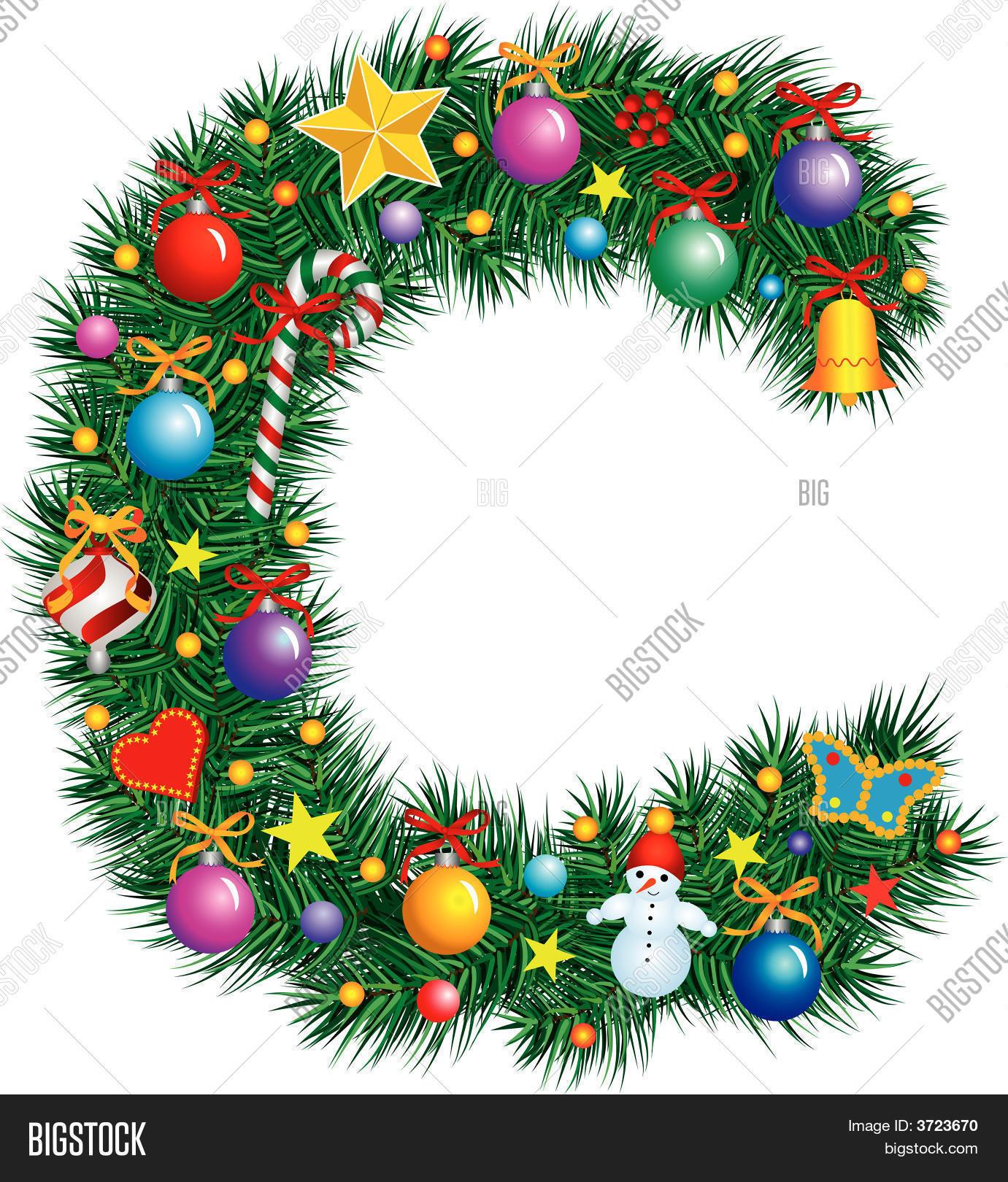 alphabet letter c christmas decoration