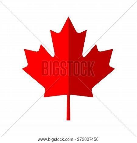 Canada Maple Leaf Icon. Vector Simple Illustration Of Canada Maple Leaf Icon Isolated On White Backg