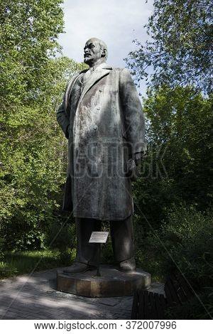 Kazakhstan, Ust-kamenogorsk - 21 May, 2020. Vladimir Lenin Monument In The Park. Sculptor: Y.vucheti
