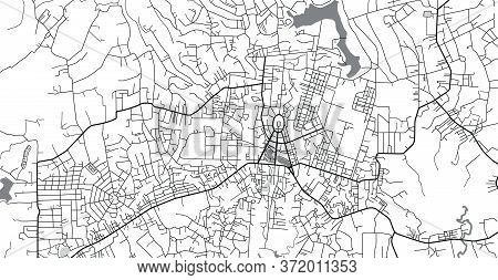 Urban Vector City Map Of Baoloc, Pakistan, Asia.