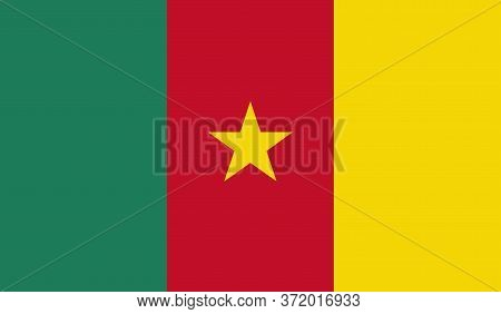 Cameroon Flag, Official Colors And Proportion Correctly. National Cameroon Flag. Vector Illustration