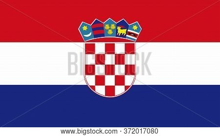 Croatian Flag, Official Colors And Proportion Correctly. National Croatian Flag. Vector Illustration