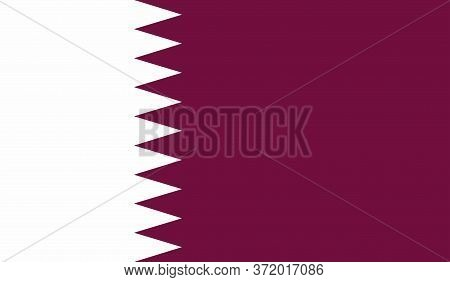 Qatar Flag, Official Colors And Proportion Correctly. National Qatar Flag. Vector Illustration. Flag