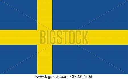 Sweden Flag, Official Colors And Proportion Correctly. National Sweden Flag. Vector Illustration. Fl