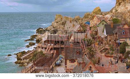Famous Popeye Village On Malta - A Popular Landmark - Island Of Malta, Malta - March 5, 2020