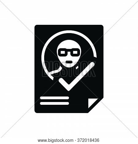 Black Solid Icon For Attendance Presence Impendence Identification Verification