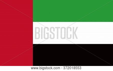 Uni Emirat Arab Flag, Official Colors And Proportion Correctly. National Uni Emirat Arab Flag. Vecto