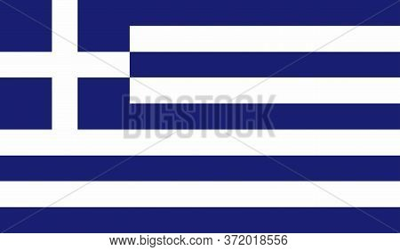 Greece Flag, Official Colors And Proportion Correctly. National Greece Flag. Vector Illustration. Fl