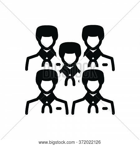 Black Solid Icon For Employees Worker Person Team Community Staff Citizen