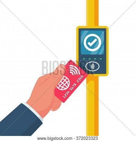 Cashless Ticketing. Public Transport. Online Payment System In Public Transport Bus, Metro, Tram, Tr