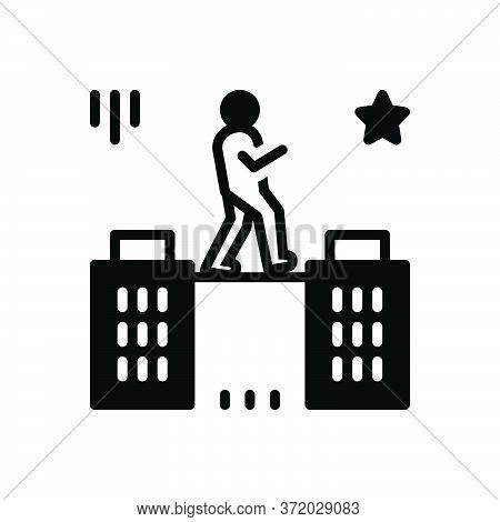 Black Solid Icon For Charisma Talent Genius Brilliance Aptitude