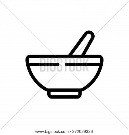 Thyme Plate Icon Vector. Thyme Plate Sign. Isolated Contour Symbol Illustration