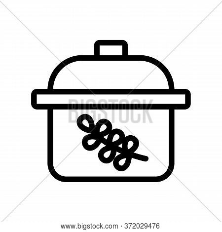 Thyme For Boil Meal Icon Vector. Thyme For Boil Meal Sign. Isolated Contour Symbol Illustration