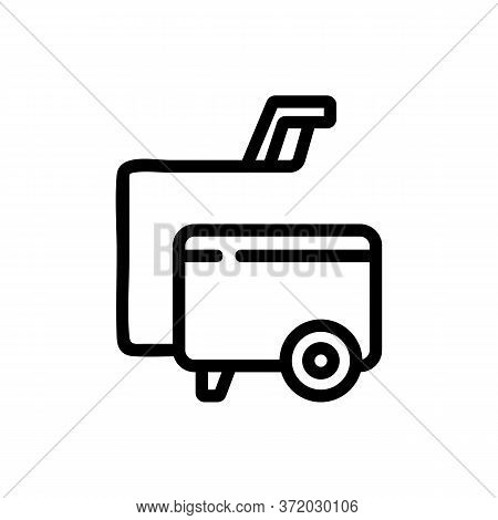 Pressure Washer Vacuum Cleaner Tool Icon Vector. Pressure Washer Vacuum Cleaner Tool Sign. Isolated