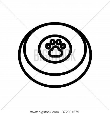 Dog Training Toy Plate Icon Vector. Dog Training Toy Plate Sign. Isolated Contour Symbol Illustratio