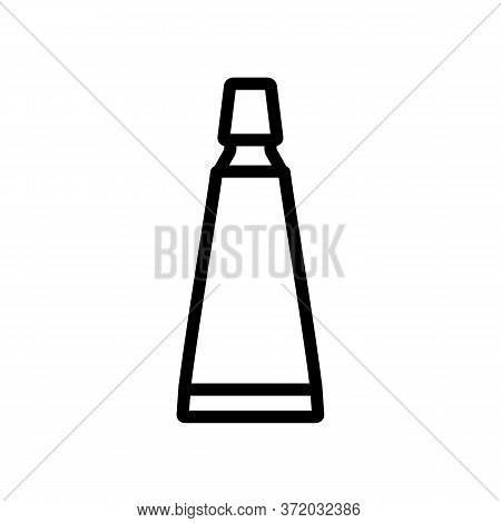 Cellulite Tube Package Icon Vector. Cellulite Tube Package Sign. Isolated Contour Symbol Illustratio