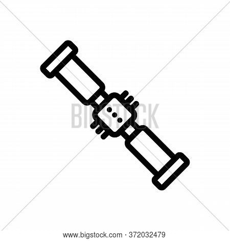 Tool For Anti Cellulite Massage Icon Vector. Tool For Anti Cellulite Massage Sign. Isolated Contour