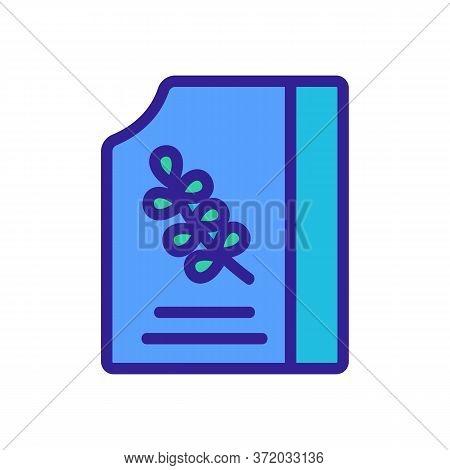 Thyme Elixir Bottle Icon Vector. Thyme Elixir Bottle Sign. Color Symbol Illustration