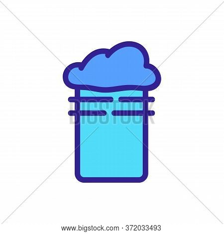 Foamy Slime In Cup Icon Vector. Foamy Slime In Cup Sign. Color Symbol Illustration