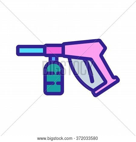 Pressure Washing Equipment Icon Vector. Pressure Washing Equipment Sign. Color Symbol Illustration