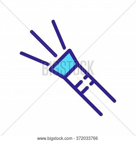 Pressure Washer With Water Flow Icon Vector. Pressure Washer With Water Flow Sign. Color Symbol Illu