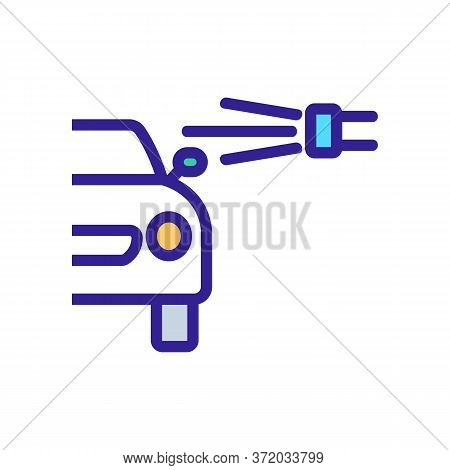 Car Pressure Washer Appliance Icon Vector. Car Pressure Washer Appliance Sign. Color Symbol Illustra