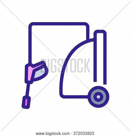 Pressure Washer Device Icon Vector. Pressure Washer Device Sign. Color Symbol Illustration