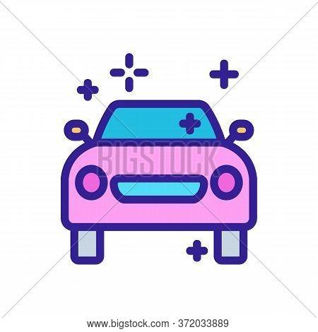 Car Pressure Washer Icon Vector. Car Pressure Washer Sign. Color Symbol Illustration