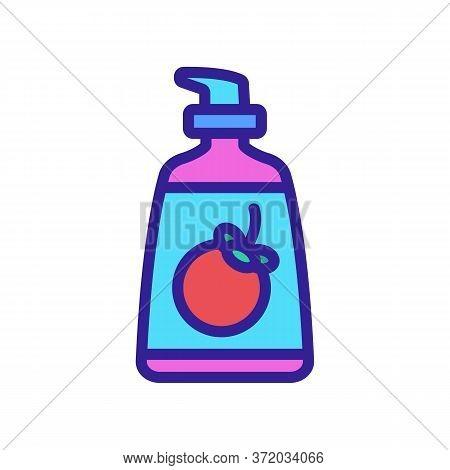 Mangosteen Liquid Sopa Bottle Icon Vector. Mangosteen Liquid Sopa Bottle Sign. Color Symbol Illustra
