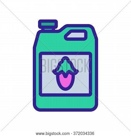 Jojoba Liquid Canister Icon Vector. Jojoba Liquid Canister Sign. Color Symbol Illustration