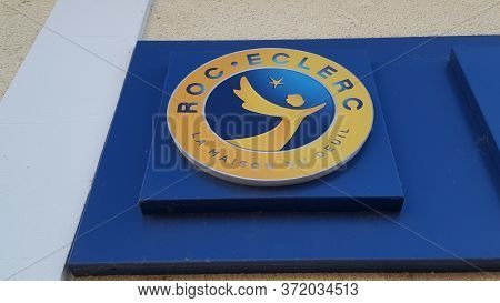 Bordeaux , Aquitaine / France - 06 14 2020 : Roc Eclerc Logo Sign Of French Agency For Undertaker An
