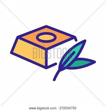 Eucalyptus Chocolate Icon Vector. Eucalyptus Chocolate Sign. Color Symbol Illustration