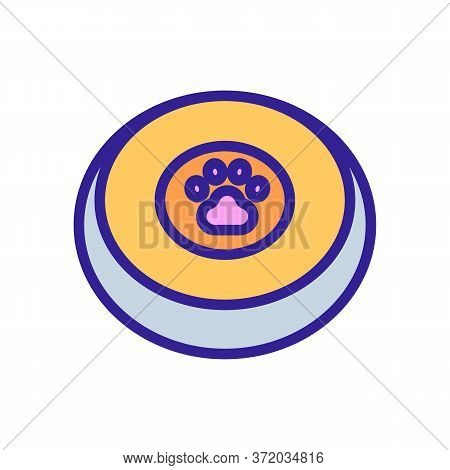 Dog Training Toy Plate Icon Vector. Dog Training Toy Plate Sign. Color Symbol Illustration
