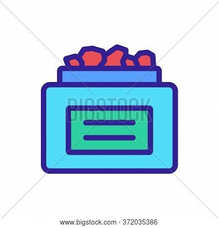 Anti Cellulite Medicine Serum Package Icon Vector. Anti Cellulite Medicine Serum Package Sign. Color