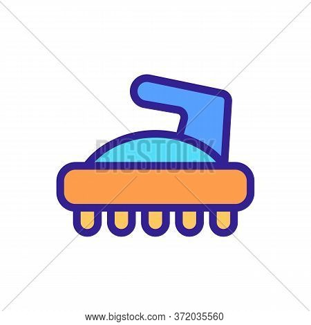 Cellulite Massager Icon Vector. Cellulite Massager Sign. Color Symbol Illustration