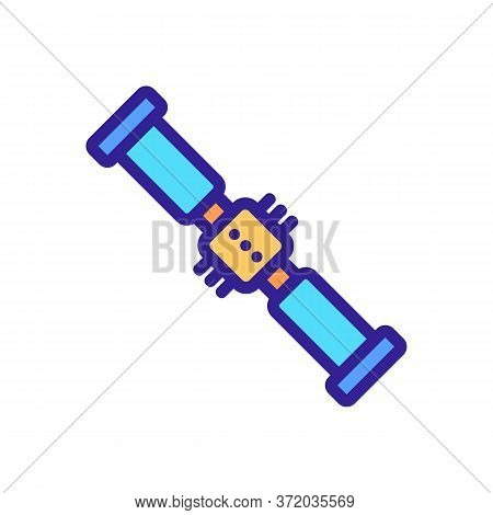 Tool For Anti Cellulite Massage Icon Vector. Tool For Anti Cellulite Massage Sign. Color Symbol Illu