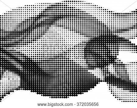 Polka Dot Halftone Digital Vector Texture Design. Circle Elements Grid. Gradation Points, Polka Dot
