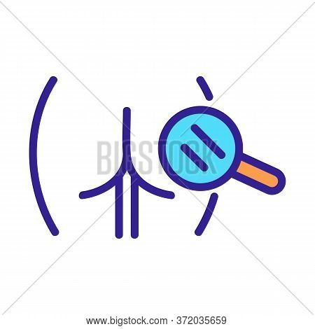 Cellulite Research Icon Vector. Cellulite Research Sign. Color Symbol Illustration